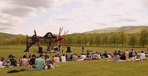Image of people in an open field